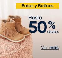 Botas y botines hasta 50%