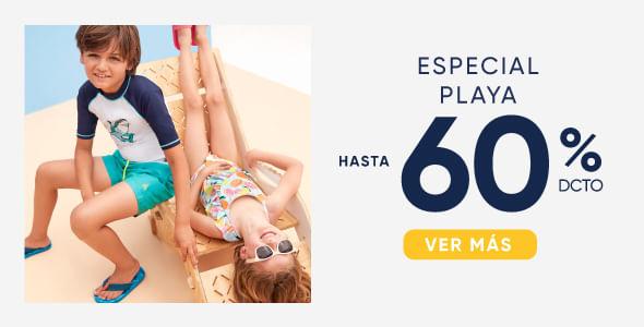 Especial playa hasta 60%