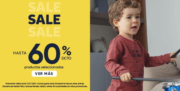 Banner Sale hasta 60% de descuento