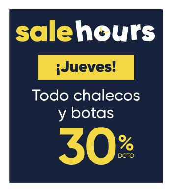 Botas y Chalecos | Sale Hours