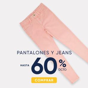 Pantalones y jeans hasta 60%