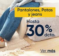 Pantalones, patas y jeans hasta 30%