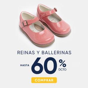 Reinas y ballerinas hasta 60%