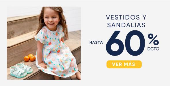 Vestidos y sandalias hasta 60%