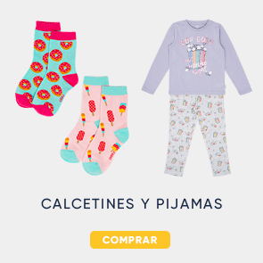 Calcetines y pijamas hasta 60%