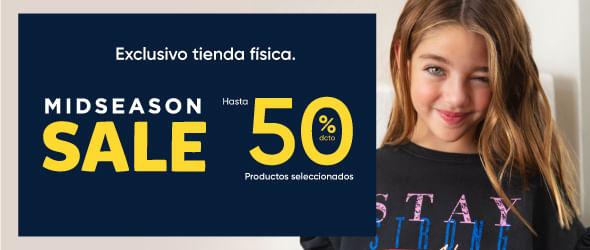 Mid season - hasta 50% dcto en tienda física