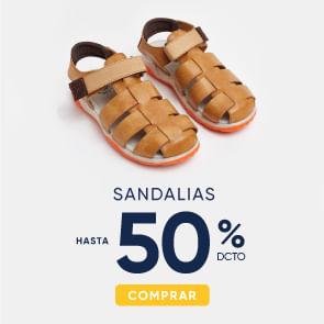 Sandalias hasta 50%